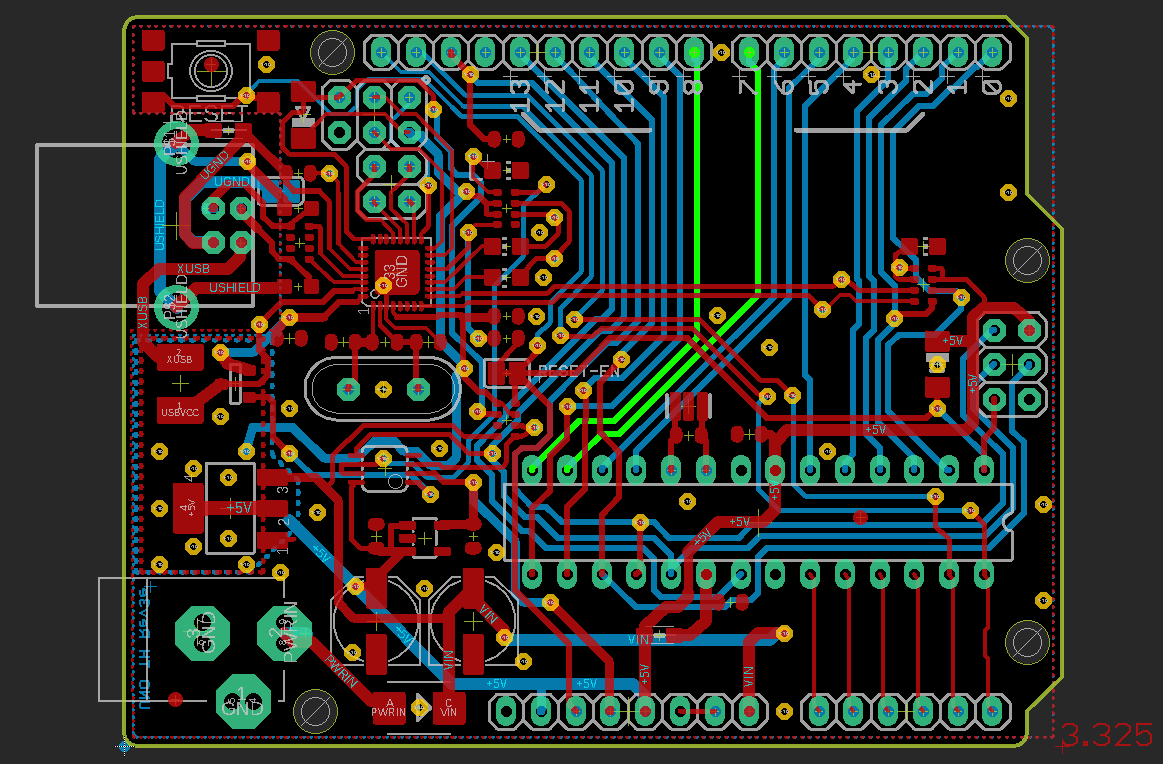 Arduino Uno Layout Full, Pins 7 and 8