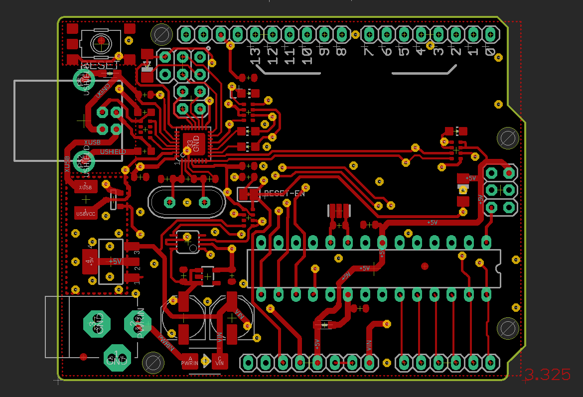 Arduino Uno Layout Top