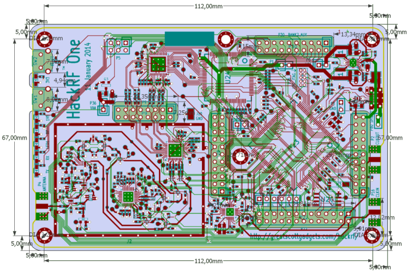 HackRF One, Layout